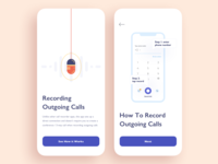 Tutorial Screens / Call Recording App for iOS / Onboarding