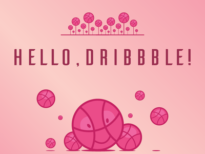 Hello, Dribbble! illustration debut first shot hello dribble