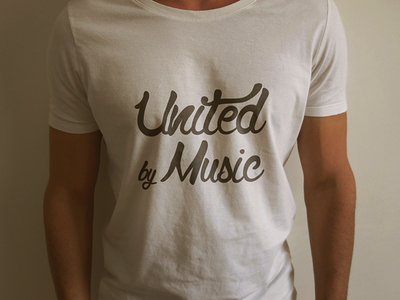 United By Music T-Shirt community crazy music type typography t shirt