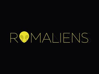 Romaliens logo birthday aliens illustration romania