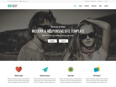 Hello Dribbble! branding typography minimal web design site template