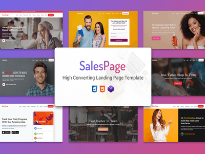 SalesPage - Apps, Business & Agencies Landing Page themeforest creative product launch startup marketing landing page