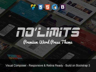 NoLimits   Marketing WordPress Theme agency app corporate digital marketing landing page landing page wordpress theme marketing multipurpose one page seo startup