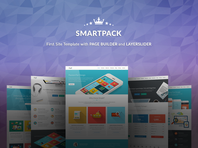 SmartPack - HTML Template With Page Builder flat creative page builder marketing responsive template web app startup template marketing campaign landing page html5 template corporate business
