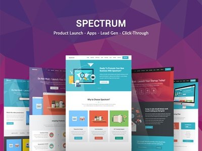 Spectrum - Landing Page Template