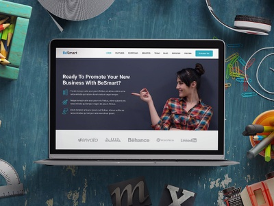 BeSmart - Landing Page Template product launch web app startup campaign lead gen click-through landing page startup marketing