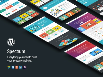 Spectrum - Premium WordPress Theme visual composer startup landing page startup campaign startup seo responsive landing page product launch page builder multipurpose marketing landing page wordpress theme landing page