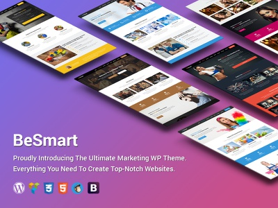 BeSmart High-Converting Landing Page WordPress Theme cleaning services app construction gym wp theme barber landing page beauty wordpress theme startup campaign landing page wordpress theme marketing startup