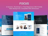 Focus - Multi Purpose App Landing Page Template