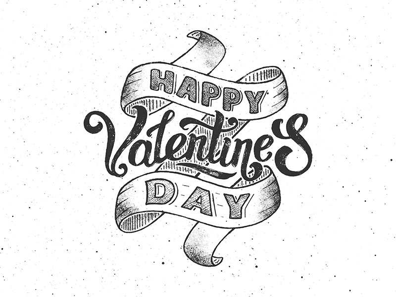 Happy Valentines Day Vintage Poster By Yurlick Dribbble Dribbble