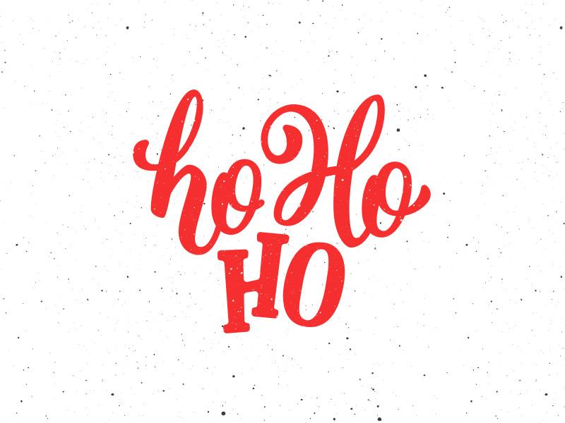 Ho ho ho! Lettering for Christmas card by Yurlick | Dribbble | Dribbble