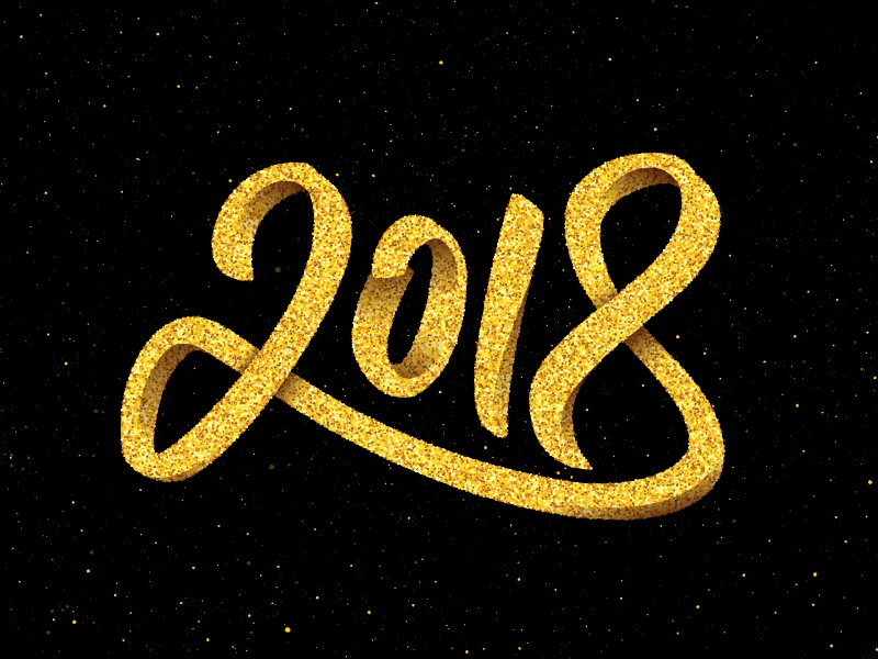 happy new year 2018 lettering 2018 new year lettering card greeting calligraphy typography text design 3d