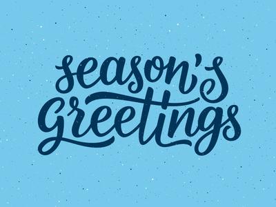 Seasons Greetings lettering seasons greetings for sale print vintage christmas new year calligraphy typography lettering
