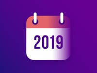 Calendar Icon for 2019 New Year