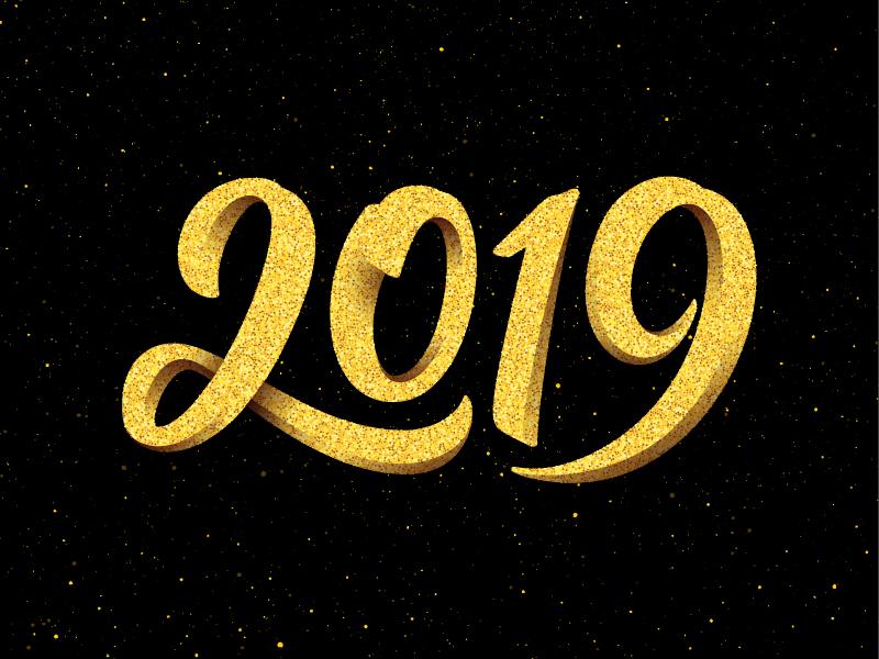 Happy New Year Logo 2019 102