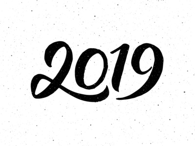 Calligraphy for New Year 2019 happy illustration for sale vintage poster banner text greeting calligraphy design card vector lettering typography new year 2019
