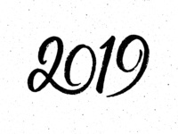2019 calligraphy for New Year greeting cards