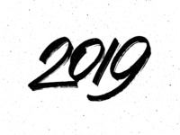 2019 Number Calligraphy for New Year card