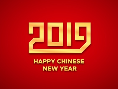 Happy Chinese New Year 2019 greeting card type for sale greeting happy poster banner text background design card vector lettering typography year of the pig year new new year chinese 2019