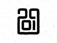 Happy New Year 2019. Logo design