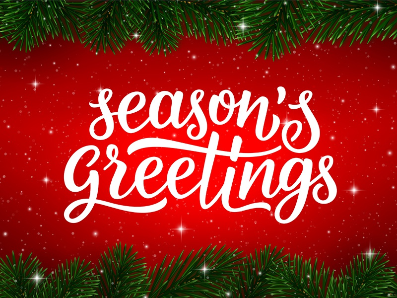 season s greetings greeting card design by yurlick dribbble
