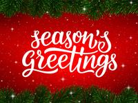 Season's Greetings. Greeting card design