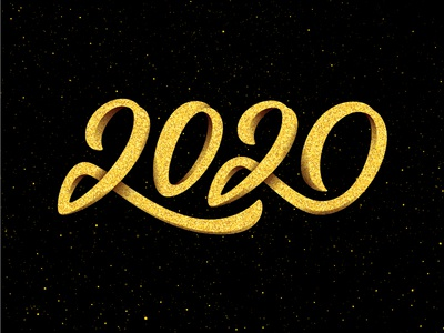 Happy New Year 2020 lettering text 3d color eve greeting design banner poster vector background for sale 2020 new year typography lettering calligraphy