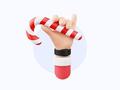Happy Holidays – 3D Hand 🎅🏼 christmas santa clean minimal cute 3d graphic hands hand design blender simple 3d art xmas holidays illustraion 3d
