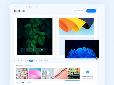 Photo book Creator 🏞 – Layout editor interaction ux design ui design typography product design app mobile app clean minimal ux design photobook ui