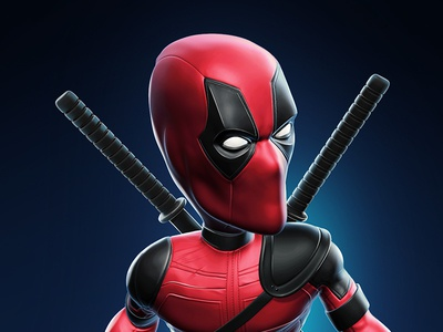 Deadpool character fresh clean digital sculpting sculpting 3d zbrush stylized funny character design deadpool