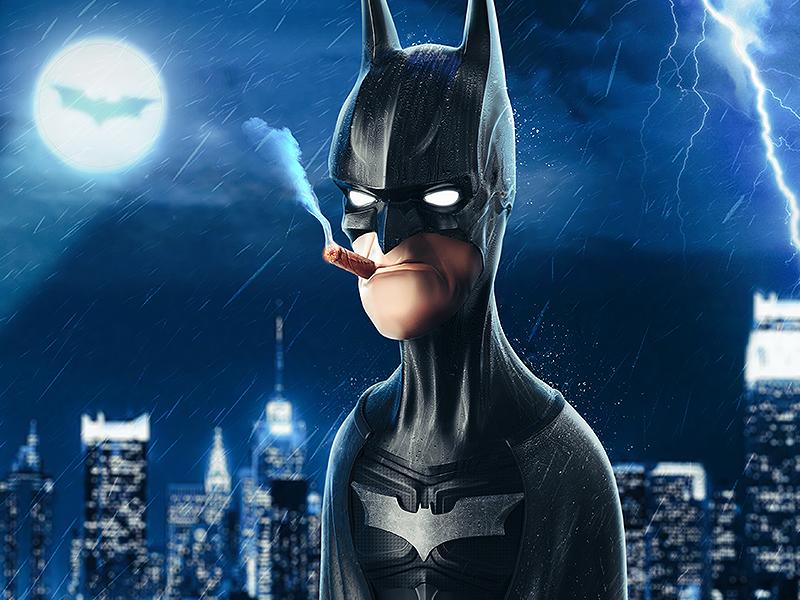 Batman photoshop keyshot zbrush bat gotham dark knight character design illustration superhero batman