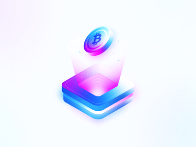 Isometric bitcoin wallet cryptocurrency bitcoin bright modern color isometric design design illustration minimal clean isometric
