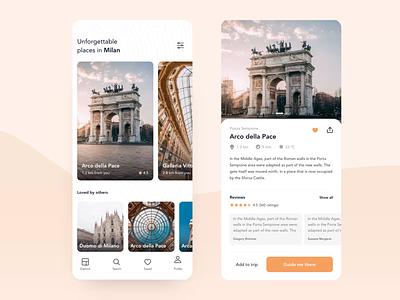 Sightseeing – Companion App (Freebie) 🌍 typography ux minimal clean design application sketch principle freebie animation ui app design app