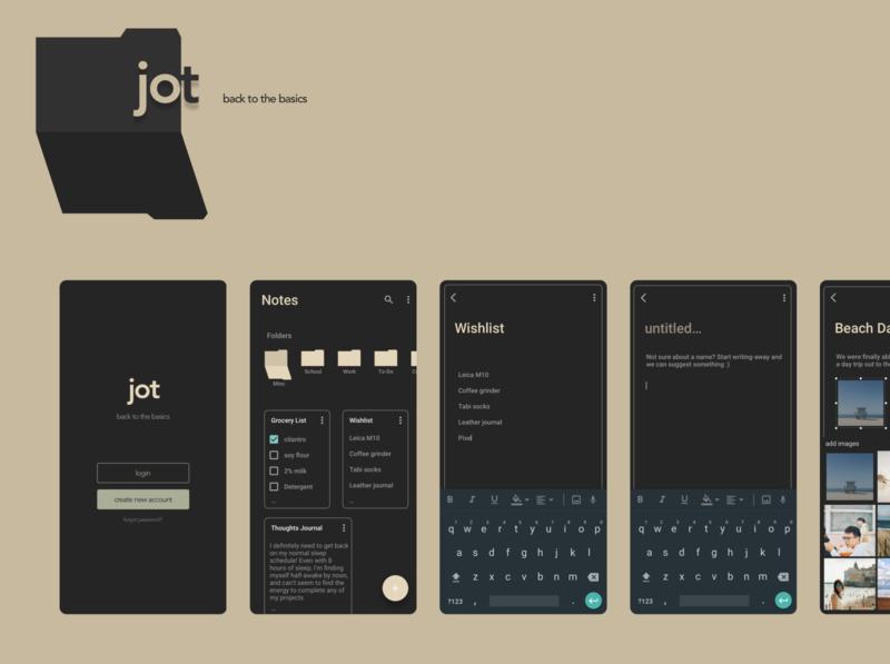 Design Sprint - Note Taking App ux ui