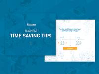 Business time saving tips calculator