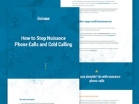 Article / supporting page design