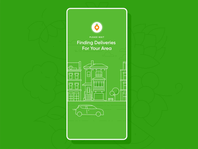 Grubbage :: Loading Animation green order car driver gig location eat food delivery adobe xd animation loading loading animation product design app web design web