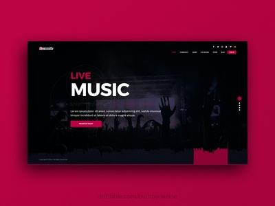 Music Website Concept