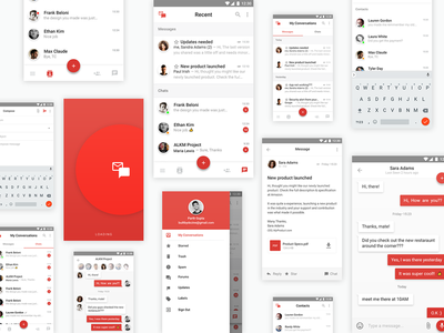 Email+Chat concept IM App