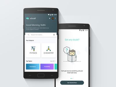 Doubt app Screens