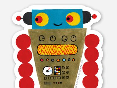 new robot sticker robot sticker maura cluthe sticker bot