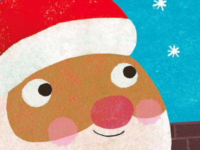 it's Santa! santa illustration christmas maura cluthe