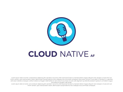 cloud native eye catching branding creative company logo unique logo logo design cloud