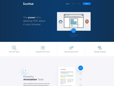 DocHub website design