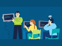 Web banner for an IT Training