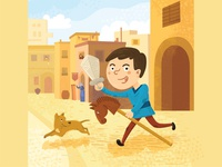 Francis of Assisi as a kid life of saints italy storybook childrens illustration childrens book vector art character vector illustration flat illustration illustration