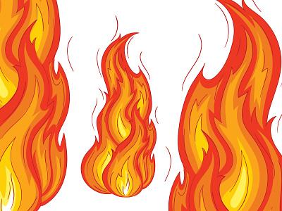Fire line art fire vector digital illustration vector art vector illustration flat illustration illustration