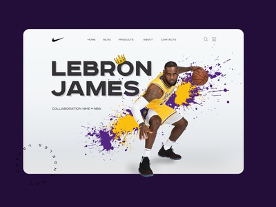 LeBron ecommerce jacket nike nba web design basketball lebronjames lebron sport web website ui ui design ux webdesign design