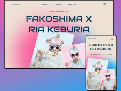 Fakoshima shop design web iu lending glasses