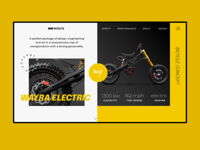 Wayra electric motorbike shop ui web ui design design